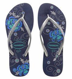 a3ce5de2c22f Havaianas Slim Organic Flip-Flops in Navy Blue