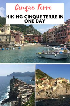 Cinque Terre is one of the most beautiful places in Italy. This guide will provide information about hiking Cinque Terre in one day (which is doable! Italy Travel Tips, Rome Travel, Travel Europe, Europe Europe, Italy Honeymoon, Italy Vacation, Pisa, Cinque Terre Italy, Europe Destinations