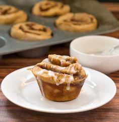 60 Minute Gingerbread Cinnamon Rolls