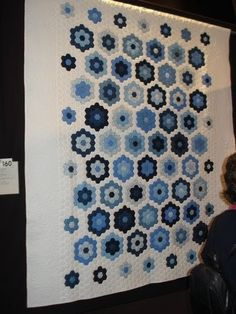 This is my Blue & White Hexagon quilt hanging at the Melbourne Exhibition this weekend.  Thanks to Wendy W for taking the photo for me.  ...
