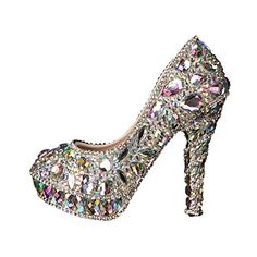 Silver Colorful Crystal Shoes Womens High Heels Pumps For... https://www.amazon.com/dp/B075VCR1J5/ref=cm_sw_r_pi_dp_U_x_Qm-0Ab1TP64NF