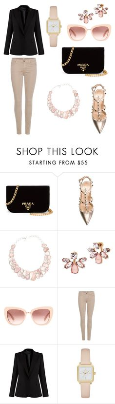 """""""casual"""" by irmaa612 ❤ liked on Polyvore featuring beauty, Prada, Valentino, Poppy Jewellery, Marchesa, Dolce&Gabbana, 7 For All Mankind, STELLA McCARTNEY and Kate Spade"""