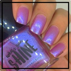 Baby Jane Iridescent Pink to Blue Colorshifting Indie Nail Polish by SHINENailPo. - The most beautiful nail designs Nail Polish Colors, Gel Nail Polish, Gel Nails, Acrylic Nails, Manicure, Coffin Nails, Cruise Nails, Baby Jane, Pretty Nails