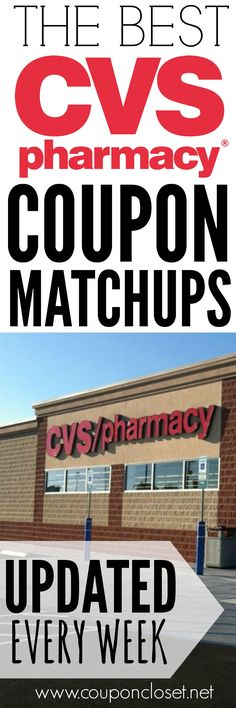 Here are the best CVS Coupon Matchups and we update the coupon deals here every single week!