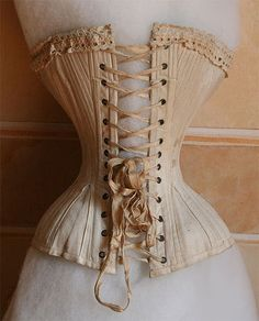 Vintage Lingerie - Wonderful corset gives wonderful results but needs several years of strict training. And please stick to soup and water only! Corset Vintage, Lingerie Vintage, Victorian Corset, 1800s Fashion, 19th Century Fashion, Victorian Fashion, Vintage Fashion, 18th Century, Viktorianischer Steampunk