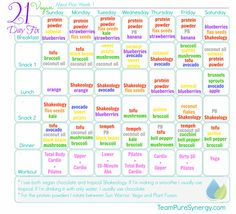 21-Day Fix vegan meal plan  #vegan