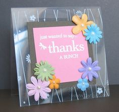 Splitcoaststampers: FOOGallery - Acetate Card 2 Techniques - Crafts & Projects Gallery