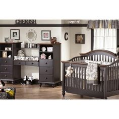 Cute baby room idea....love the changing area unit
