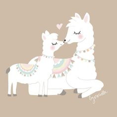 Always kiss me goodnight Alpacas, Llama Drawing, Llama Decor, Llama Arts, Llama Birthday, Cute Llama, Cute Illustration, Cute Wallpapers, Wallpaper Wallpapers