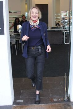 SHARON STONE Shopping in Beverly Hills 02/21/2017