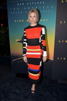 Sienna Miller Attends the Live By Night NYC Premiere. Photo via Theo Wargo