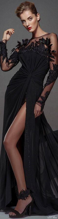 Blanka Matragi Couture Fall 2015 | https://www.pinterest.com/sclarkjordan/black-essence/