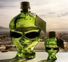 Outer Space Vodka,  A Distilled Spirit That Comes in a Bright Green Glass Alien Head Bottle