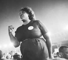 """""""If I fall, I will fall five-feet four-inches forward in the fight for freedom."""" Civil Rights icon Fannie Lou Hamer died on this day in 1977 Women Civil Rights, Civil Rights Leaders, Civil Rights Activists, Civil Rights Movement, Book Of Life, The Life, Southern Belle, Black History Month, Mississippi"""