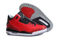 Jordan Brand 3 Retro Sports Sneakers Online with Grey/ Red and Black Colors