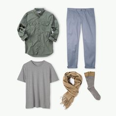 Versatile neutrals & easy going pieces - mix and match this week's new fashion for a laid back weekend look.