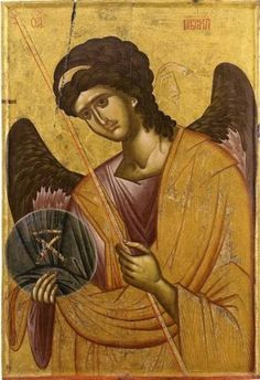 Gabriel from monastery Vatopediou Byzantine Icons, Byzantine Art, Religious Icons, Religious Art, Archangel Gabriel, Bad Art, Angels And Demons, Orthodox Icons, Angel Art