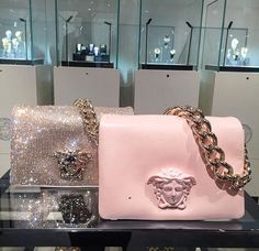 Versace Handbag for sale, ultimate guide to the hottest fashion handbags style inspiration from around the world. Luxury Bags, Luxury Handbags, Purses And Handbags, Versace Handbags, Versace Versace, Versace Gifts, Versace Shoes, Backpack Purse, Purse Wallet