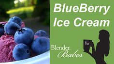Delicious Blueberry Ice Cream recipe made using a Vitamix or Blendtec commercial blender on Vimeo Blueberry Ice Cream, Fruit Ice Cream, Healthy Ice Cream, Vitamix Recipes, Blender Recipes, Vitamix Ice Cream, Yummy Smoothies, Smoothie Recipes, Electric Ice Cream Maker