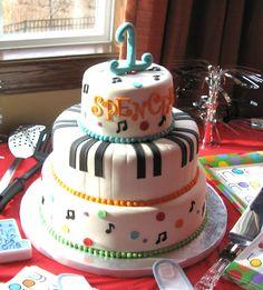 music theme Music Theme Birthday, Music Themed Parties, Kids Birthday Themes, Baby Boy 1st Birthday, Cool Birthday Cakes, Boy Birthday Parties, Little Einsteins Party, Music Cakes, Creative Cakes