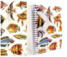 Tropical Fishes  Spiral Notebook 4 x 6 by Ciaffi on Etsy, $11
