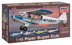 Airplane Model Kits - Minicraft Piper Super Cub Airplane Model Kit 148 Scale -- Click image for more details.
