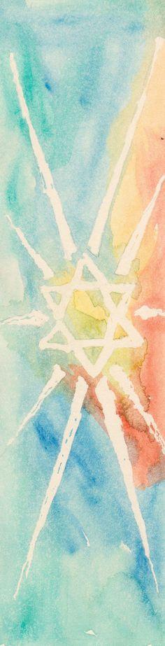 Judaic/ Jewish Rainbow Jewish Star Magen Dovid Bookmark Handmade