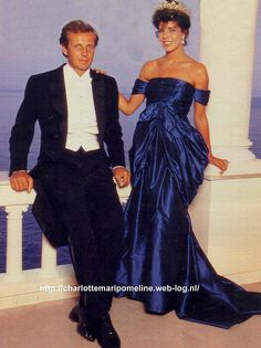 Stefano Casiraghi with wife Princess Caroline of Monaco in1988