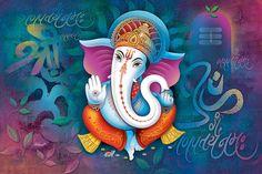 Ads Art Poster Wall decorative and Personalise Greeting cards Ganesha Painting, Ganesha Art, Lord Ganesha, Lord Krishna, Lord Shiva, Ganesha Pictures, Ganesh Images, Indian Gods, Indian Art