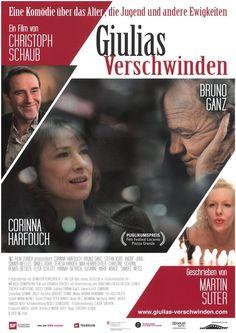 GIULIAS VERSCHWINDEN - BRUNO GANZ - CORINNA HARFOUCH -2009 - FILMPOSTER A4