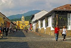 Antigua Guatemala, Guatemala: The city, nestled below three volcanic peaks, is said to be the best-preserved colonial city in Central America. It's famous for its 16th Century Spanish architecture and cobblestone streets.