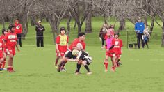 KID GOES BEAST MODE PLAYING RUGBY