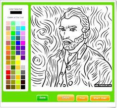 Autorretrato de Vincent van Gogh (Thecolor.com) Vincent Van Gogh, Goth, Artists, Learning, Teaching Resources, Art History, Classroom, Art, Gothic