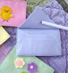 Spring Felt Envelopes www.facebook.com/elevenlife #envelope #design #art