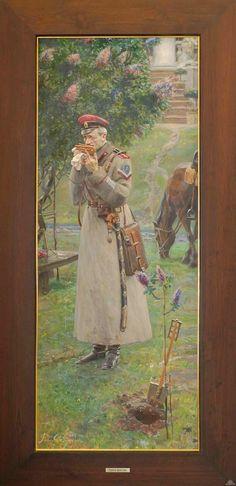 White Army - officier du régiment Kornilov