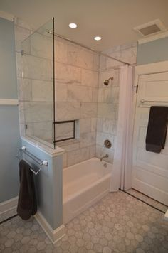 Shower Curtain Rod Through Glass   Google Search