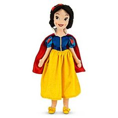 Disney Snow White Plush Doll - Medium - 21'' | Disney StoreSnow White Plush Doll - Medium - 21'' - Embrace soft, plush Snow White with a smile and a song in your heart. The fairest one of all will enchant your little princess with her delicate embroidered features, glittering golden skirt, plus royal plush bodice and satin trims.