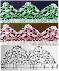 Resultado de imagem para barradinhos em croche para panos de prato telma rocha croche