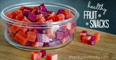 Recipe: Homemade healthy fruit snacks