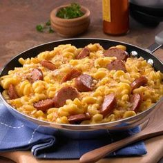 Johnsonville Skillet Mac and Cheese Kielbasa Recipe : Food Network Skillet Mac And Cheese, Macaroni And Cheese, Mac Cheese, Cheese Rice, Baked Macaroni, Sausage Recipes, Cooking Recipes, Pork Recipes, Macaroni Recipes