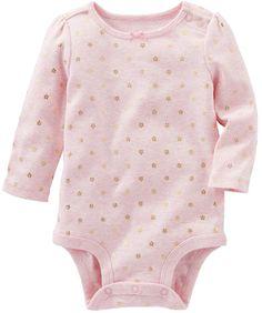 ce446c1143 Osh Kosh Oshkosh Bgosh Baby Girl Foil Floral Print Bodysuit Oshkosh Bgosh