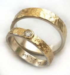 diamond ring wedding set his and hers wedding bands by ilanamir