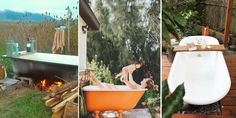 People Are Putting Clawfoot Tubs In Their Backyards