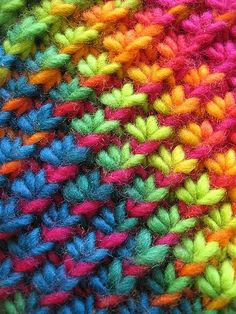 Free Knitting Pattern - Scarves: Star Stitch