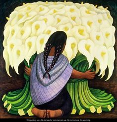 Diego Rivera was a prominent Mexican painter born in Guanajuato, Guanajuato, and husband of Frida Kahlo (1929–1939 and 1940–1954). His large wall works in fresco helped establish the Mexican Mural Movement in Mexican art. Between 1922 and 1953, Rivera painted murals among others in Mexico City, Chapingo, Cuernavaca, San Francisco, Detroit, and New York City.[1] In 1931, a retrospective exhibition of his works was held at the Museum of Modern Art in New York City.