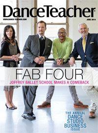 Joffrey Ballet School artistic team: Jo Matos, Robert Ray, Davis Robertson and Michael Blake on the cover of our June issue: http://bit.ly/Sogd2a  Photo by Christopher Duggan