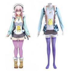 Soni-Ani:Super Sonico the Animation Super Sonico 1ST Cosplay Costumes