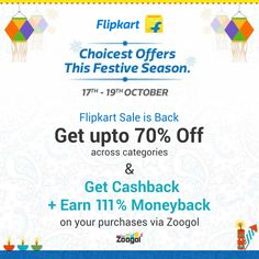 Get up to 70% Off. Shop via Zoogol & Earn upto 111% Cashback! Grab Deal https://www.zoogol.in/hot-deals.php