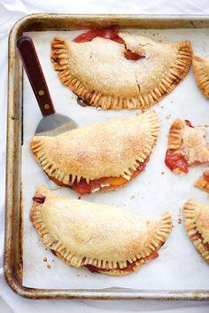 Raspberry Peach Hand Pies | foodiecrush.com