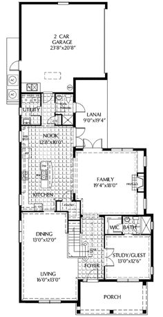 Architectural house plans floor plan details a forest cottage i floor 1 malvernweather Gallery